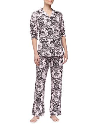 Shinto Garden-Print Pajamas