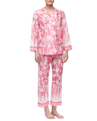 Rose Trellis Cotton Lawn Pajamas