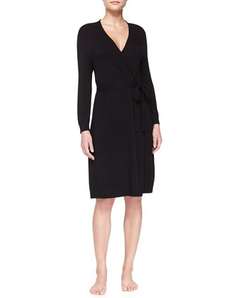 Studio Jasmine Belted Robe, Black