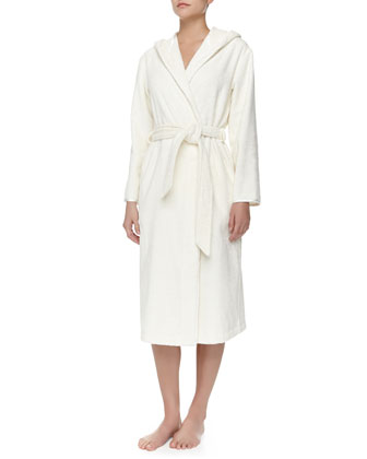 Studio Cotton Terry Robe, White