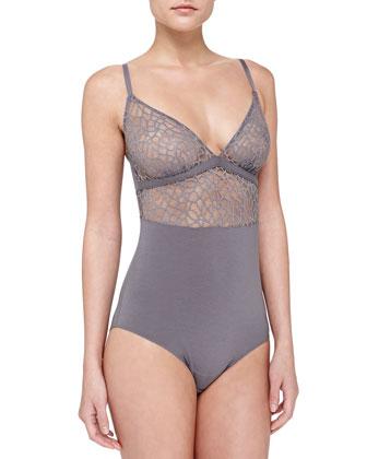 Studio Iris Lace-Trim Bodysuit