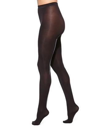 Velvet 66 Zip Tights, Black/Silver