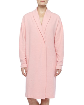 Aosta Fleece Short Robe, Rosa Sorbetto