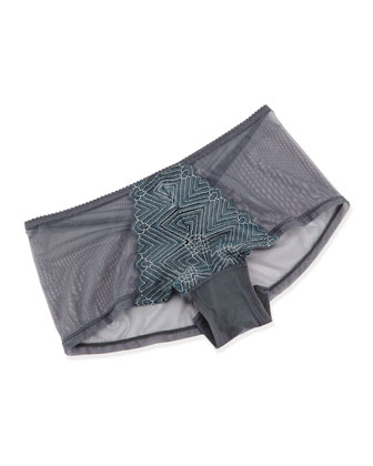 Delano Mesh Hot Pants, Anthracite