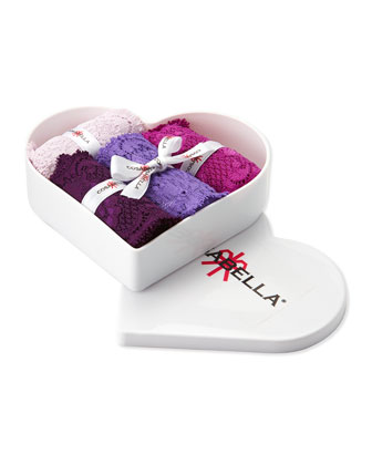 Never Say Never 4-Piece Cutie Thong Set, Purples