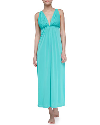 Aphrodite Slinky Knit Gown, Green