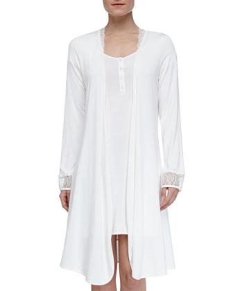 Studio Julianna Short Robe, Ivory