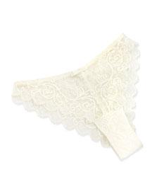 Celeste Tanga Panties, Ivory