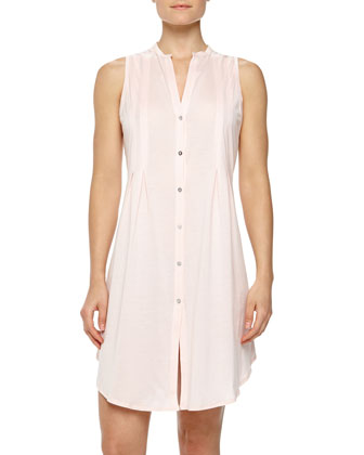 Sleeveless Shirtwaist Nightgown, Tender Rose