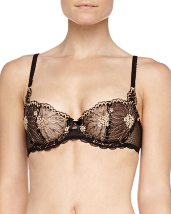 Opera Demi Bra, Black/Gold