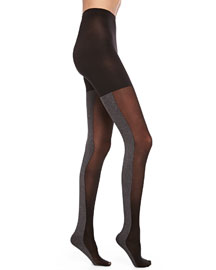Tight-End Colorblock Tights, Black/Gray