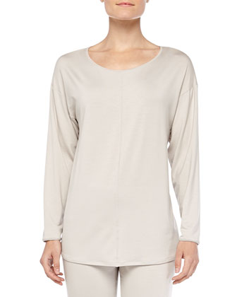 Chelsea Long-Sleeve Sleep Shirt, Smoke