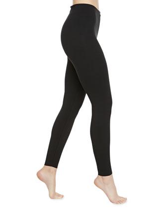 Stretch-Jersey Control Leggings, Black