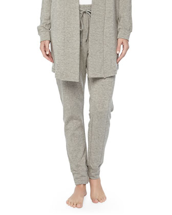 West Broadway French Terry Sweatpants, Griege Melange