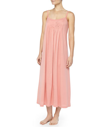 Juliet Crystal-Pleated Long Chemise, Arabesque