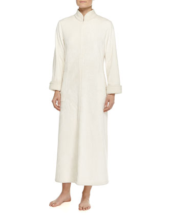 Sherpa Zip-Front Caftan, Warm White, Women's