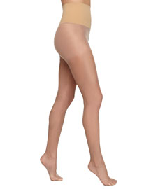 High-Waisted Sheer Tights, Bronze Gloss