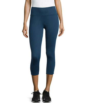 Structured Capri Leggings, Navy Haze