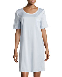 Cotton Deluxe Short-Sleeve Big Sleepshirt, Blue Glow