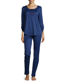 Malta Jersey Pajama Set, Dutch Blue