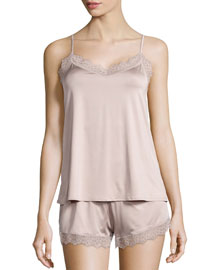 Capri Lace Trim Pajama Set, Maple Sugar