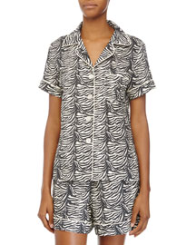 Classic Shorty Pajama Set, Zebra