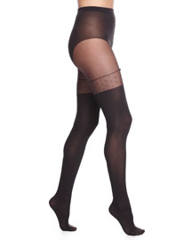 Daphne Faux Thigh-High Tights