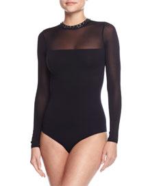 Tiara Embellished Bodysuit