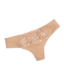 Revelation Mesh Lace Thong, Nude