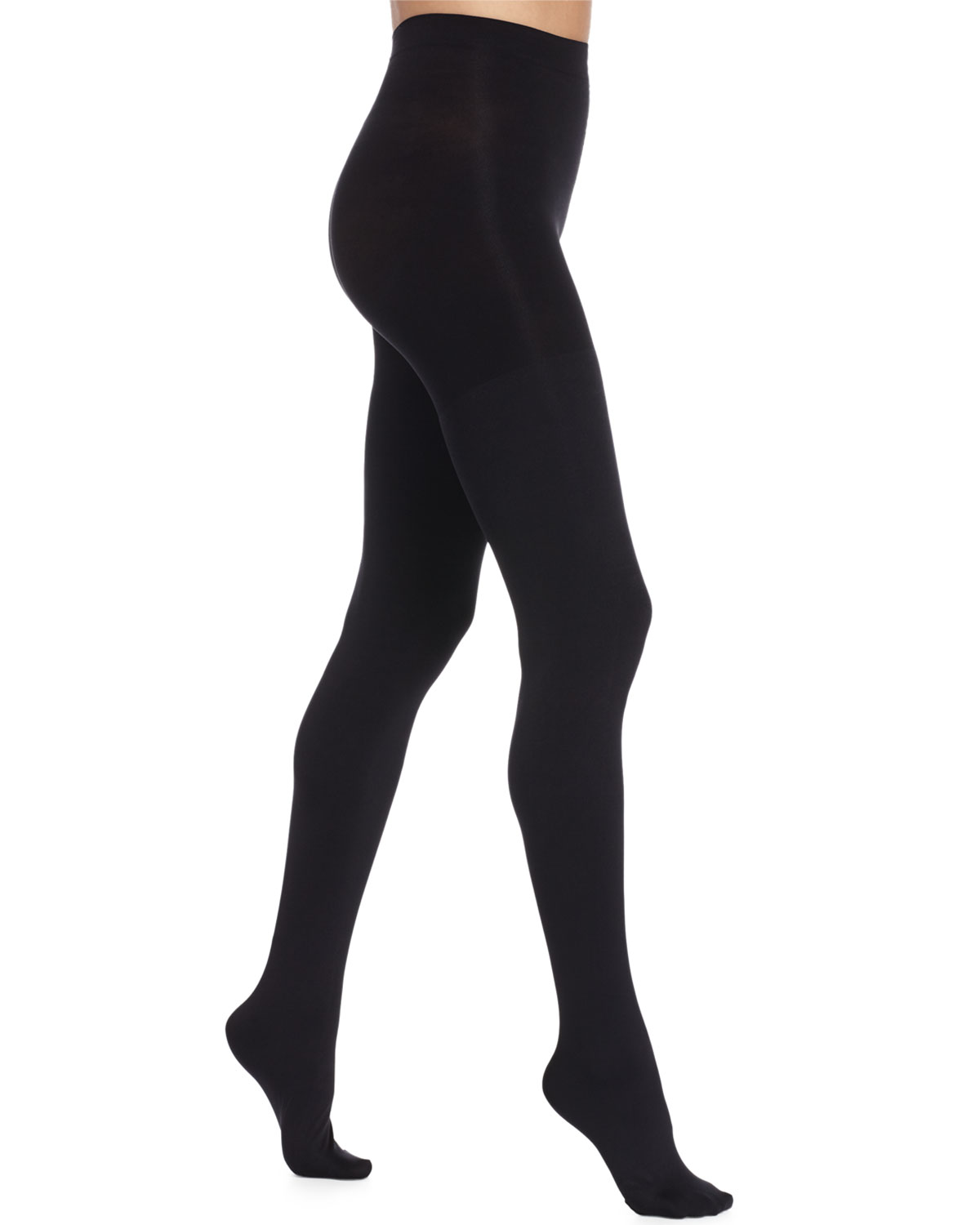 Spanx Luxe Blackout Opaque Tights, Very Black, Size: B