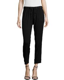 Fugi Drawstring Pants, Black