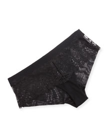 Wish Lace Boyshorts, Black