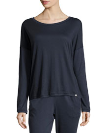 Margot Long-Sleeve Dolman Tee, Midnight