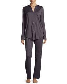 Cotton Deluxe Pajama Set, Charcoal
