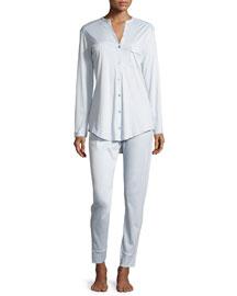 Pure Essence Two-Piece Pajama Set, Blue Glow