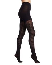 Girl's Best Friend Sheer Tights, Very Black