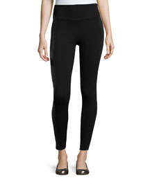 Moto Ponte Leggings, Very Black
