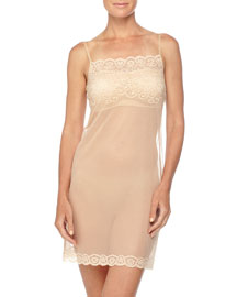 Allover Lace Slip, Ivory