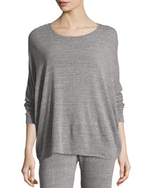 Cosi Heathered Long-Sleeve Top
