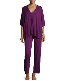 Shangri-La Tunic Pajama Set, Imperial Purple