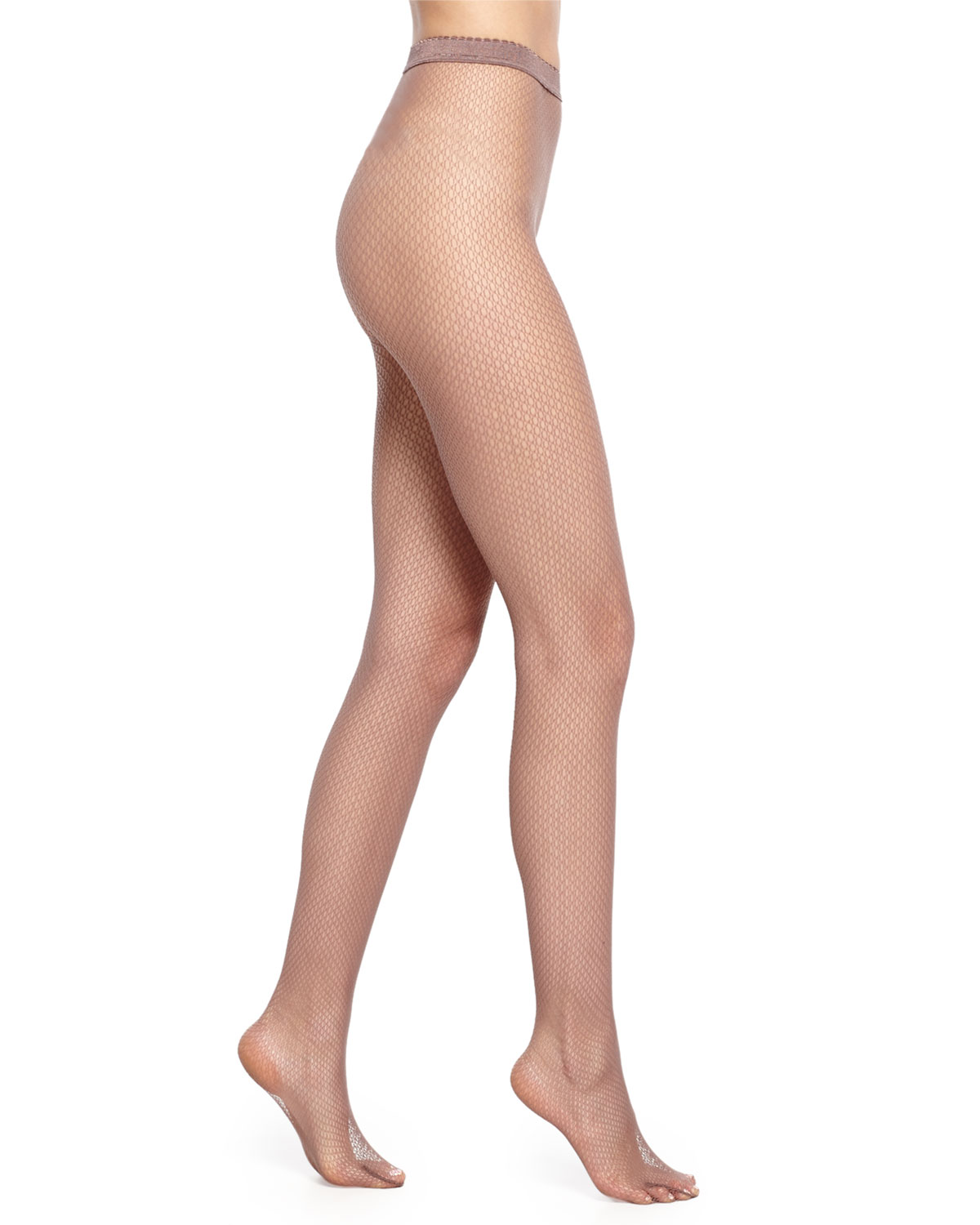 Wolford Netsation Open-Mesh Tights, Size: L, Clove