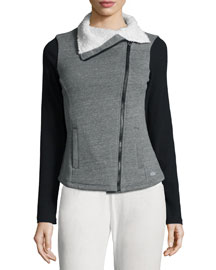 Tao Asymmetrical-Zip Fleece Sport Jacket