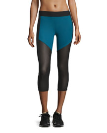 Racing Paneled Capri Sport Leggings