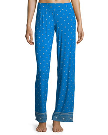 Jolene Printed Lounge Pants, Atlantic Blueprint