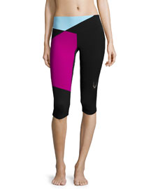 Colour Bolt Capri Sport Leggings, Black