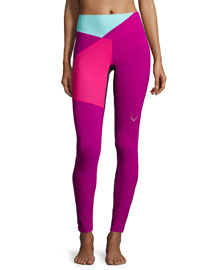 Colour Bolt Sport Leggings, Violet
