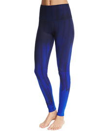 Airbrush High-Waist Printed Sport Leggings