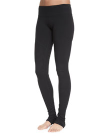 Goddess 2 Colorblock Ribbed Sport Leggings, Black