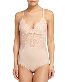 Meg Alluring Lace Bodysuit, Ballet Pink