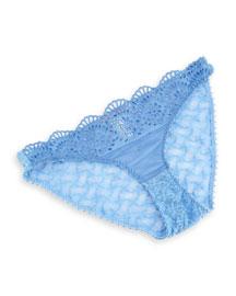 Rachel Shopping Lace Bikini Briefs, Shirting Blue
